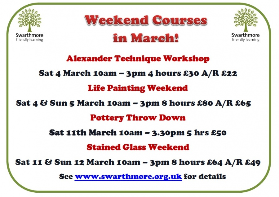 2017_03 weekend courses March only