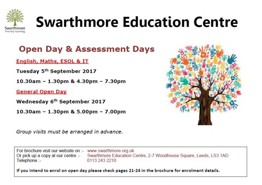 2017_09 Open Days poster