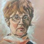 Portraiture woman pastels
