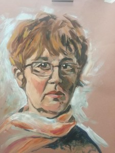 Portraiture woman pastels