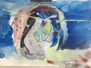 Watercolour crab