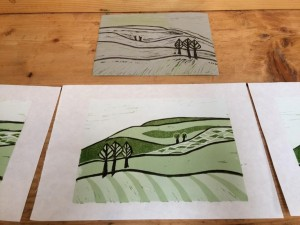 Print a Lino Landscape