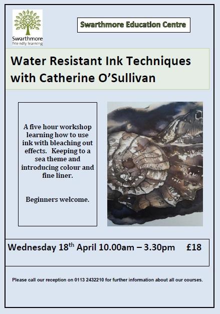 2018_04 Water Resistant Ink Techniques flier