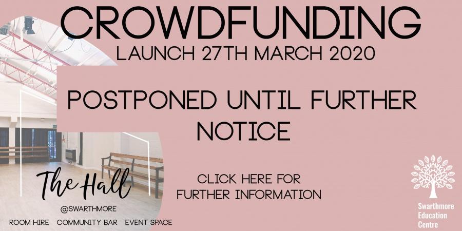 updated crowdfunding website banner postponed
