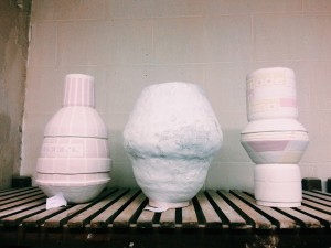 X3 pots for the kiln