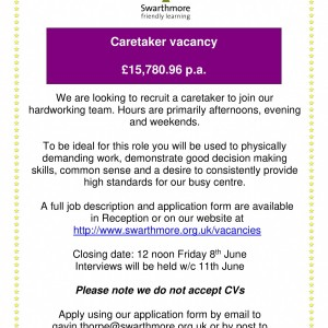 Caretaker Advert-1