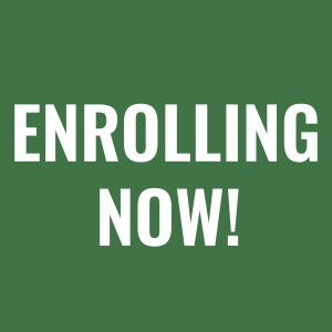 enrolling now green